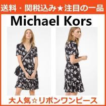 大人かわいい ☆ Michael kors ブランド コピー ボタニカル プリント ワンピース-1