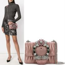 MM569 MIU LADY SHOULDER BAG IN MATELASSE L...