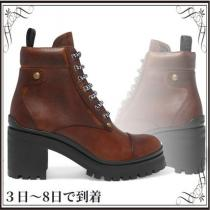 関税込◆Lace-up leather ankle boots