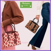 【コピー kate spade】レオパード柄★margaux leopard medium satchel★