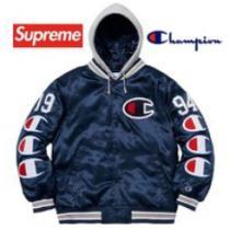 Supreme Champion Hooded Satin Varsity Jacket AW 18 WEEK 7着こなしおすすめジャケット シュプリーム 激安 エレガント男女兼用enshopi.com sn:m8LrGb-1