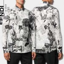 2019秋冬トレンドデザイン 人気ファッション雑誌でも掲載 フェンディ FENDI シャツenshopi.com sn:r4Tziu-1