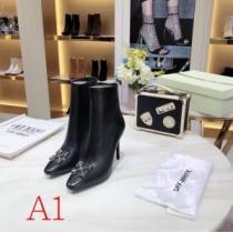 Off-White Arrow High Heels Ankle Boots ゆるっとしたコーデにおすすめ オフホワイト レザー ブーツ レディース コピー 最低価格enshopi.com sn:Lruyme-1