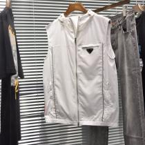 エレガントな雰囲気コレクションPRADA コピー プラダ ノースリーブジャケット コート 防寒性 2020愛らしい春の新作おすすめenshopi.com sn:a0LfOf-1
