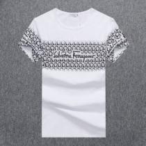 サルヴァトーレフェラガモ Tシャツ プリント コピー メンズ 気品あるセンスいい Salvatore Ferragamo 3色 おすすめ VIP価格enshopi.com sn:iCGfum-1