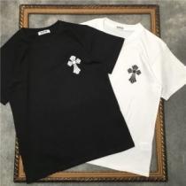 CHROME HEARTS 2色可選 かろやかなデザインを楽しめる 半袖Tシャツ クロムハーツ  最旬!大人っぽいコーデenshopi.com sn:8rObCi-1
