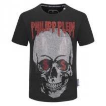 フィリッププレイン 2色可選 トレンドの着こなしテク PHILIPP PLEINどんなスタイルにも合わせやすい 半袖Tシャツenshopi.com sn:TTneyi-1