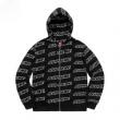 光沢のある  定番人気激安  2色選択可 カジュアル?ウエア パーカー  Supreme Repeat Zip Up Hooded Sweatshirt