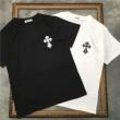 クロムハーツ tシャツ 値段 激安2020春夏ブランドの新作 CHROME HEARTS コットン半袖トップス ホワイト ブラック