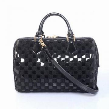 永遠の定番LOUIS VUITTON ルイヴィトン ハンドバッグ 光沢 贅沢な丈夫 黒 チェック 旅行 バッグ 2018人気限定販売 高級品