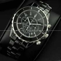 スーパー コピー ブランド コピー 腕時計 J12 メンズ腕時計 恋人腕時計 日本製クオーツ 6針 黒文字盤 回転ベゼル セラミック