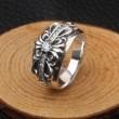 爆買い大得価シンプルデザインCHROME HEARTSクロムハーツ リングフローラルクロスシルバー925指輪男女兼用