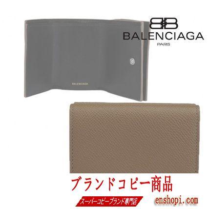 バレンシアガ コピー★バレンシアガ コピー ロゴ 三つ折り財布 ウォレット-3